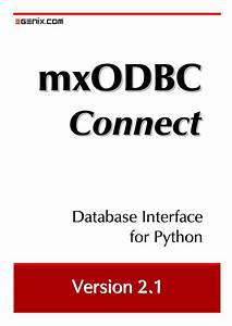 Mxodbc Connect User Manual And Installation Guide