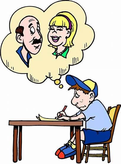 Clipart Letter Writing Clip Children Parents Child