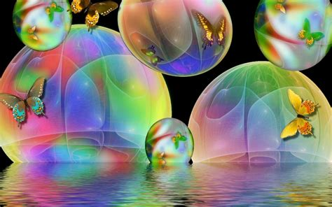 Bubbles Animated Wallpaper For Desktop - butterfly bubbles imac wallpaper 19873 wallpaper cool