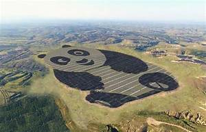 Chinese Solar Farm In The Shape Of A Giant Panda Can Be