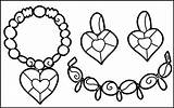 Coloring Jewelry Awesome Pretty Intricate sketch template