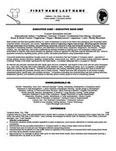 resume template for sous chef executive sous chef resume template premium resume sles exle