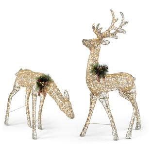 trimming traditions large glittery trimming traditions 5 250 light gold glitter deer