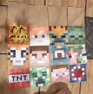 Make Your Own Minecraft Party Favor Bags Jessica39s