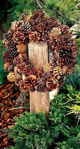 wreaths pine cones  pine  pinterest