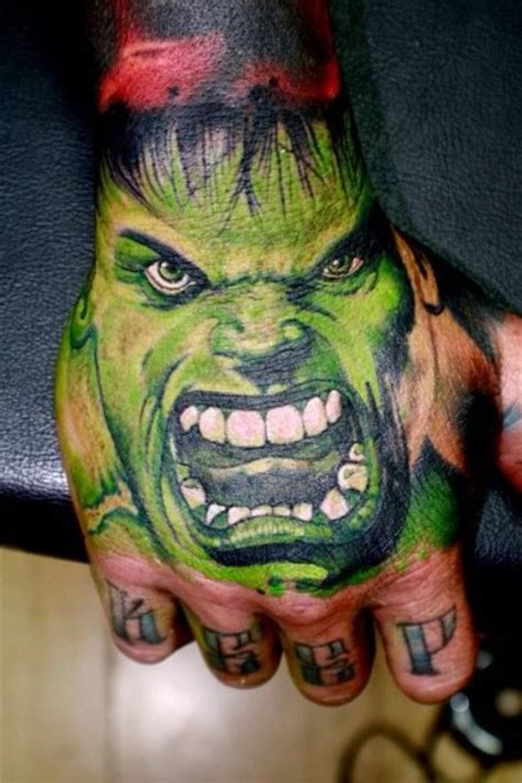 hulk tattoo images pictures  ideas