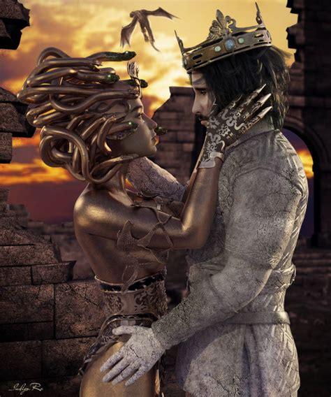 Medusa and Midas by obsidian-chaos on DeviantArt