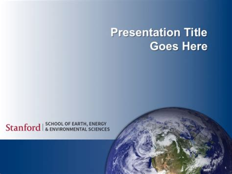 powerpoint templates stanford school  earth energy