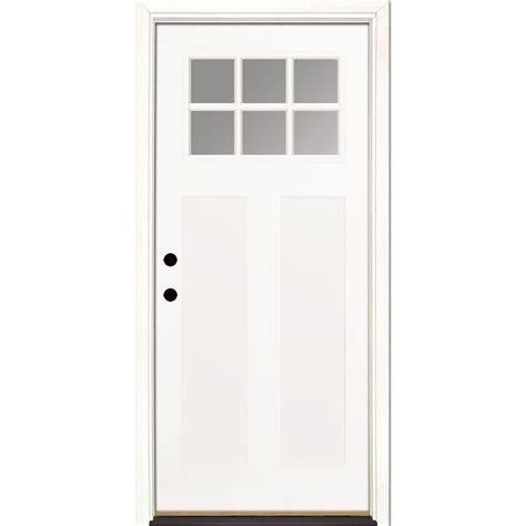 home depot prehung exterior door feather river doors 36 in x 80 in 6 lite clear craftsman
