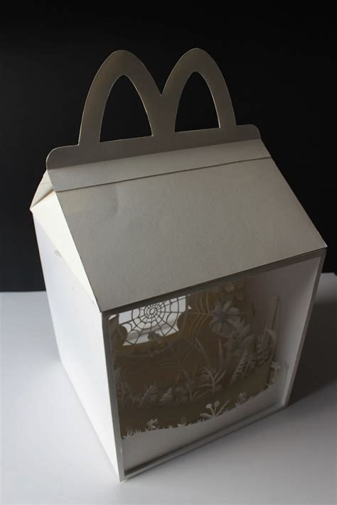 wonderful paper scenes created  mcdonalds happy