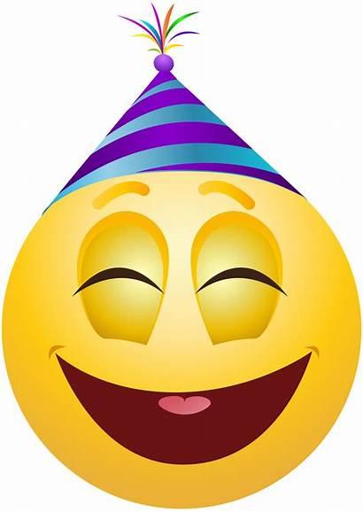 Party Clip Emoticon Emoji Clipart Transparent Emoticons