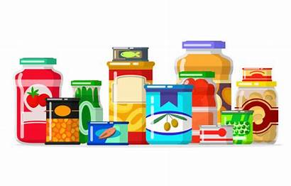 Pantry Clipart Bank Vector Canned Goods Row
