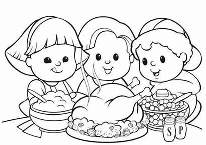 Thanksgiving Dinner Coloring Turkey Advertisement