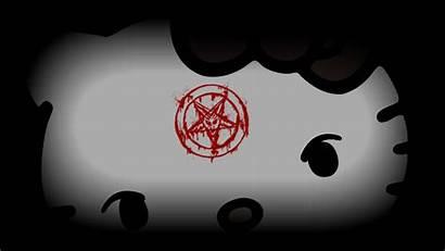 Kitty Hello Background Devil Dark Truth Di