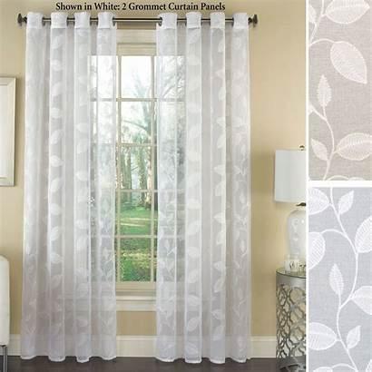 Curtains Sheers Sheer Curtain Grommet Panel Window