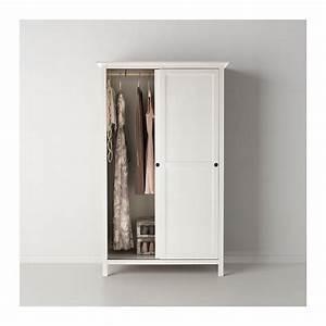Ikea Kleiderschrank Schiebetueren : hemnes kleiderschrank mit 2 schiebet ren wei gebeizt ~ Lizthompson.info Haus und Dekorationen
