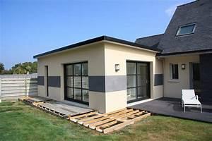 extension de maisons a brest et finistere With le plan d une maison 16 agrandissement maison bois extension bois