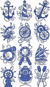 Free Nautical Charts Chevron Nautical Machine Embroidery Designs By Sew Swell