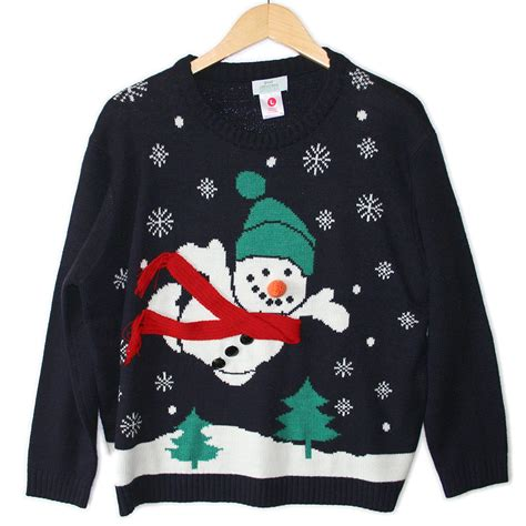 superman snowman tacky ugly christmas sweater the ugly