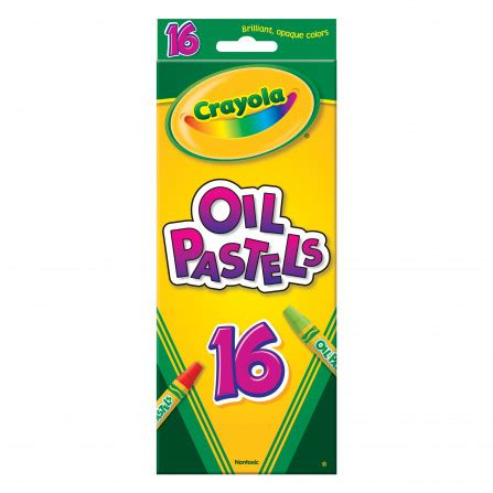 Although oil pastels harden somewhat, particularly in cooler temperatures, they never completely dry on the painting and remain the same viscosity throughout the layers of paint. Crayola - Oil Pastels - 16 Colours