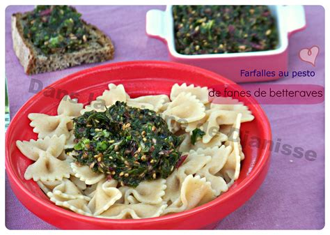 cuisiner betterave farfalles au pesto de fanes de betteraves cuisine végétalienne