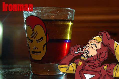 Gaming Drink Iron Man Comics Captain America Thor Marvel