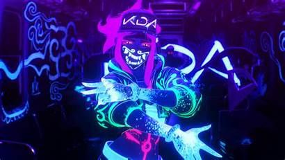 Kda Akali Neon League Lol Wallpapers Pop