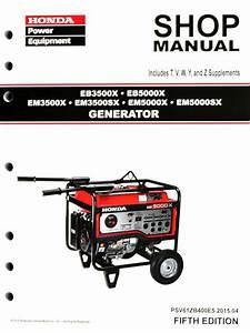 Honda Eb3500 Eb5000 Em3500 Em5000 Generator Service Repair