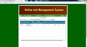 Screeshots Of Online Lab Management System