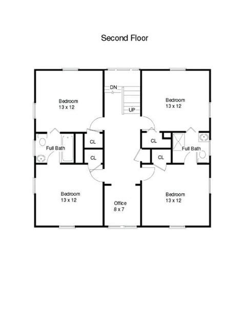 american  square house plans attached       story ranch square