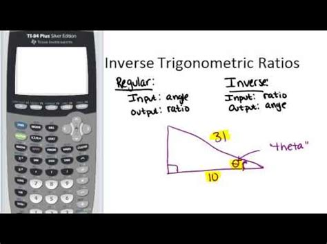 Inverse Trigonometric Ratios Lesson (geometry Concepts) Youtube