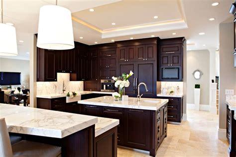 Dark Espresso Kitchen Cabinets  Traditional Kitchen