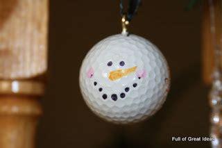 golf ball snowman christmas ornament craft