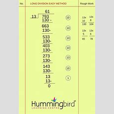 Long Division Is A Myth  Hummingbird Learning Centrehummingbird Learning Centre