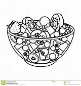 Salad Fruit Outline Symbol Illustration Vector Icon Kinds Various Bowl Single Cartoon Drawing Clipart Shutterstock Web Clip Glass Line Drawings sketch template