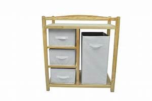 Table à Langer Bois : commode table langer b b en bois avec panier ~ Teatrodelosmanantiales.com Idées de Décoration