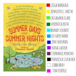 Review Summer Days And Summer Nights Twelve Love Stories Edited By Stephanie Perkins Heart