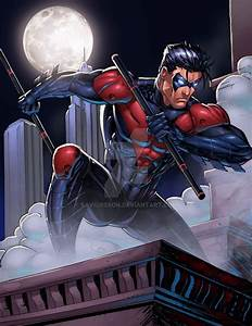 NightWing Red Colors by SaviorsSon on DeviantArt