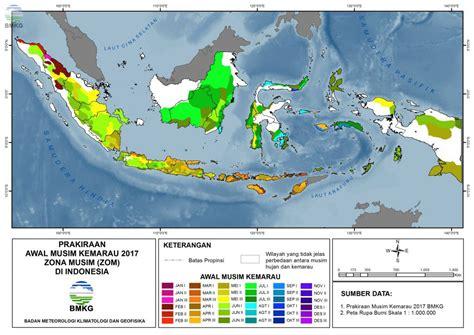 prakiraan musim kemarau   indonesia balai besar