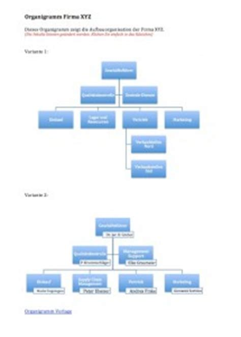 organigramm vorlage muster und vorlagen kostenlos