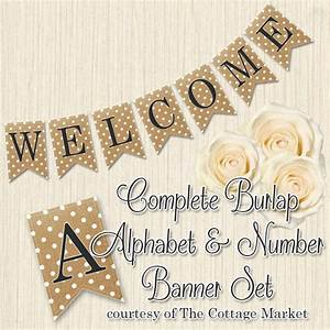 7 best images of free printable letters for banners burlap With burlap banner letters