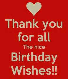 Thank You All Birthday Wishes for Facebook