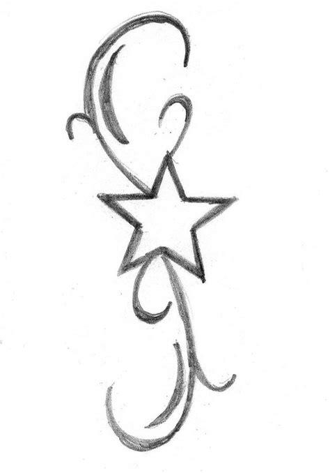 simple outline star tattoo design