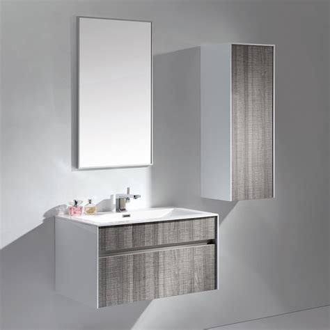 Bathroom Unit Design by Ash Grey Designer Vanity Unit 70