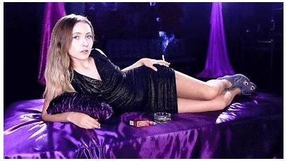 Brielle Smoking Modeling Elegant She