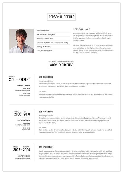 Rã Sumã Template by 20 Intriguing Resume Templates Cv Template