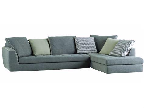 canapé d 39 angle en tissu avec revêtement amovible by roche bobois design sacha