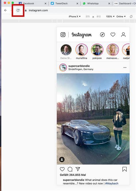 bilder auf instagram mit pc oder mac hochladen