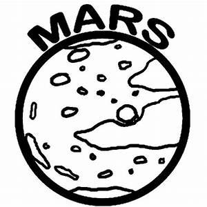 Space Object Planet Mars Coloring Pages | Color Luna