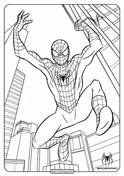 Coloring Spiderman Printable Marvel